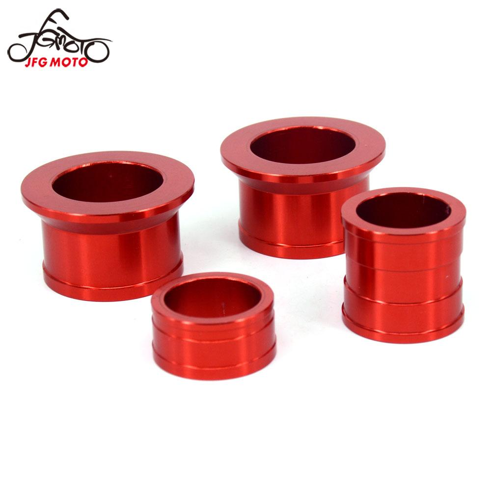 Motorcycle Front And Rear Aluminum Wheel Hub Spacer For Honda CR125R CR250R CRF250R <font><b>CRF250X</b></font> CRF450R CRF450X CRF 250R 450R CR image