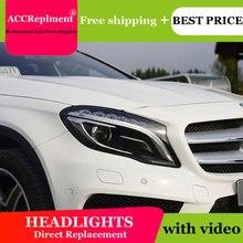 For Benz GLA 2015 2019 Headlights All LED Headlight DRL Dynamic Signal Hid Head Lamp Bi Xenon Beam Accessories Car Styling
