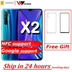 realme X2 X 2 Moblie Phone Snapdragon 730G 64MP Camera 6.4'' Full Screen NFC OPPO Cellphone VOOC 30W Fast Charger