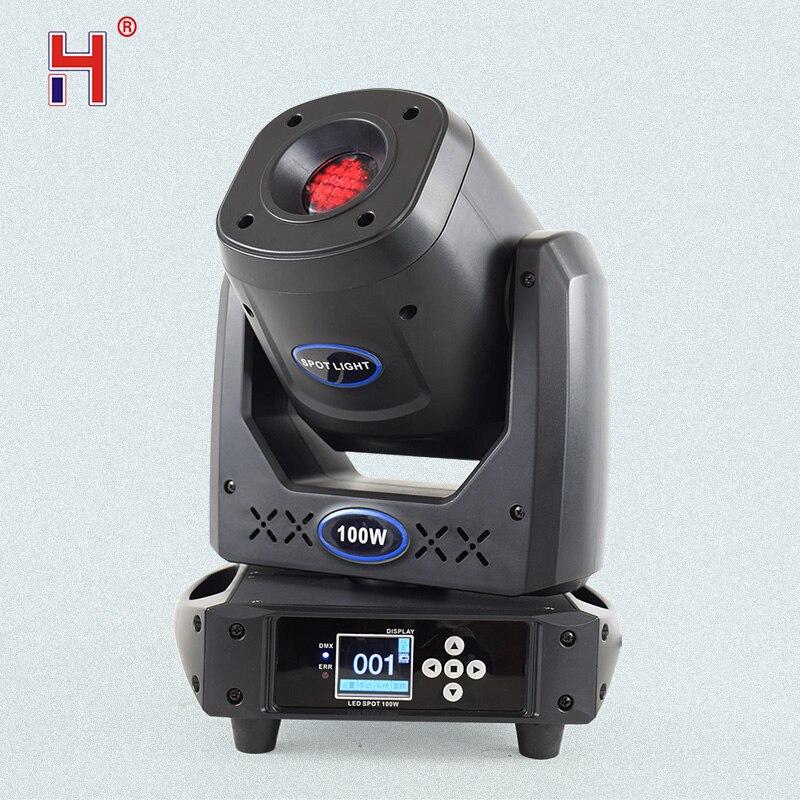 Светодиодный прожектор Lyre 100 Вт, профессиональный прожектор с движущейся головкой, с эффектом стробоскопа, 14 каналов, для клубов и свадеб