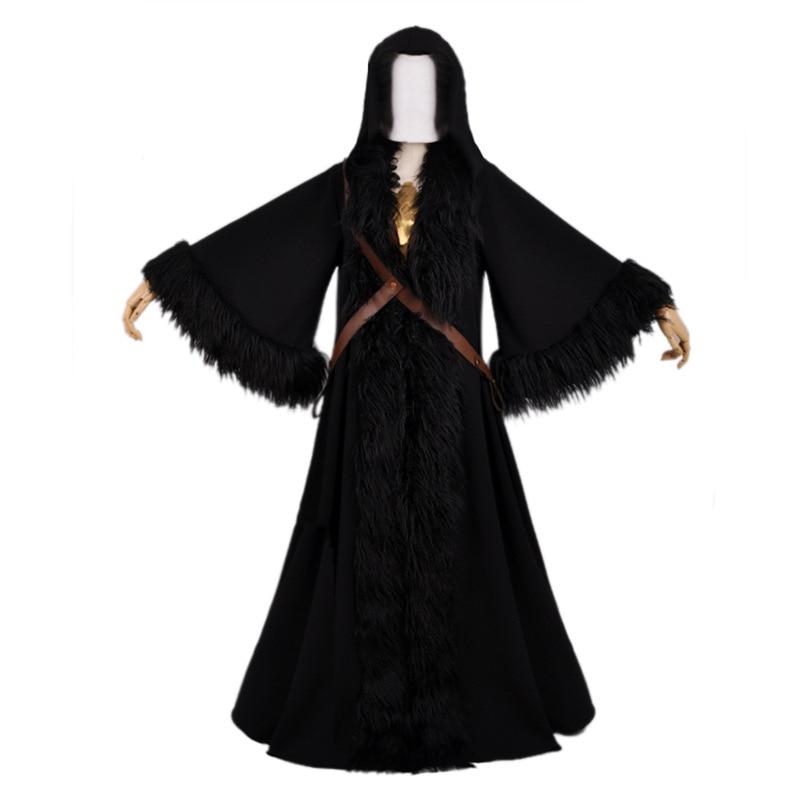 Wonder Woman Diana Prince Costume Cosplay Hooded Cloak Black Rope Halloween:2