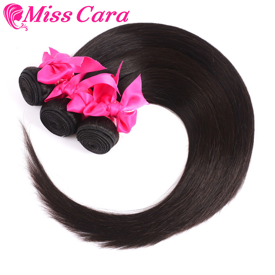 H39116dd96b25468185c0e316428da412J Peruvian Straight Hair Bundles With Frontal Miss Cara 100% Remy Human Hair 3/4 Bundles With Closure 13*4 Frontal With Bundles