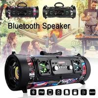 TWISTER.CK Outdoor Portable Subwoofer Handsfree Wireless Bluetooth Portable Speaker Surround Sound Stereo USB/ AUX/ TF Card