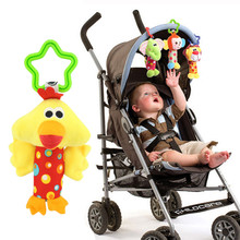 Bebé juguete para recién nacidos niño niña bebé sonajero desarrollo niño cama carrito de bebé juguetes suaves elefante mono pato León perro cervatillo