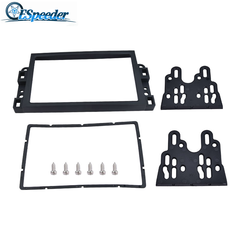 ESPEEDER <font><b>Car</b></font> <font><b>2</b></font> <font><b>Din</b></font> Frame <font><b>Radio</b></font> Fascia Panel DVD Player Install Trim Panel Kit <font><b>2</b></font> <font><b>Din</b></font> <font><b>Car</b></font> <font><b>Radio</b></font> Fascia <font><b>For</b></font> <font><b>Chevrolet</b></font> <font><b>Aveo</b></font> Lova image