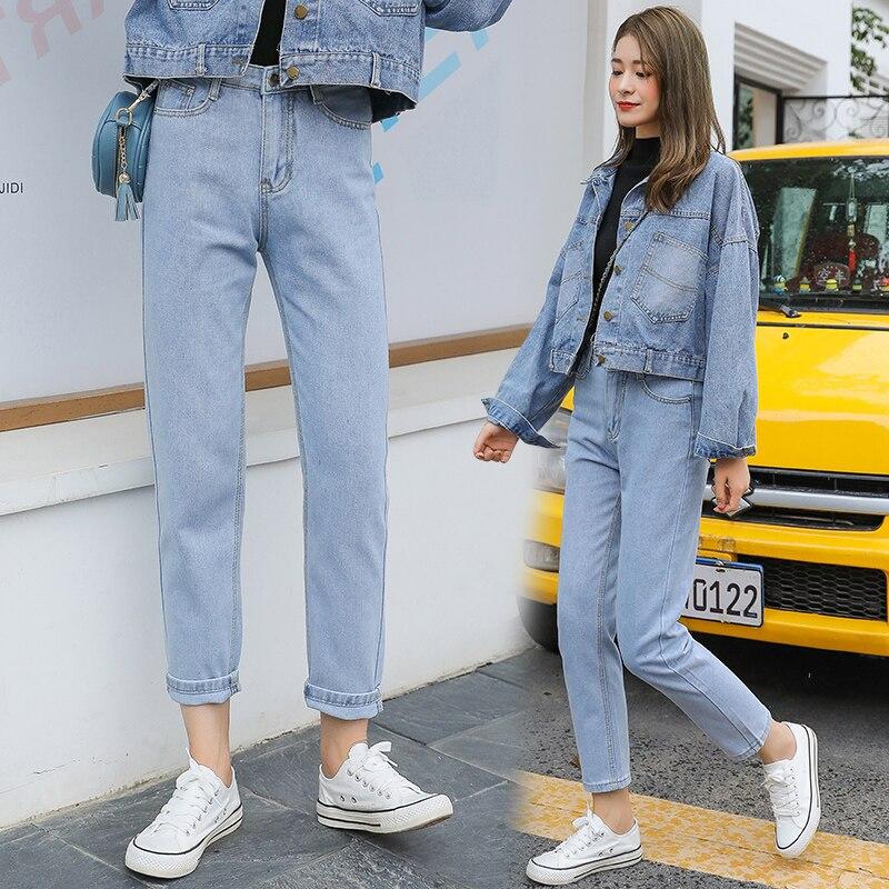 Fa8810 2020 new autumn winter women fashion casual  Denim Pants high waist jeans jeans womans
