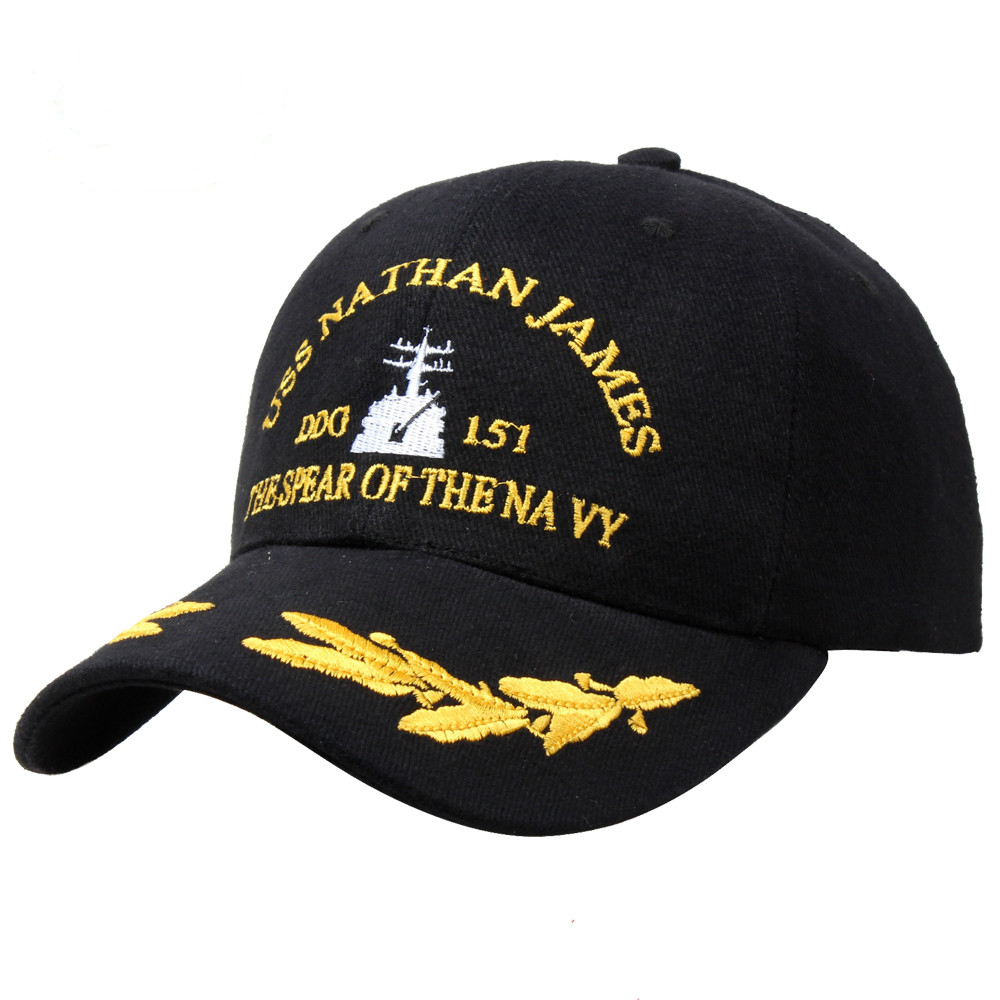High Quality American Us Navy Caps Military Casual Baseball Hats Men Women Ship Sailor Pilot Black Sunhat Souvenir
