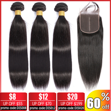 Beauty Grace Straight Hair Bundles With Closure Non Remy Peruvian Human Hair Bundles With Closure Brazilian Hair Weave Bundles