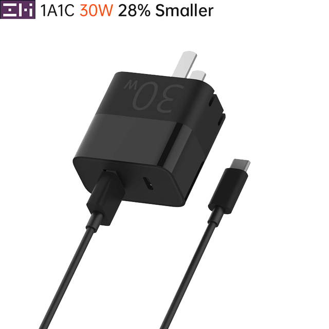 ZMI Travel Charger 1A1C USB Type C 30W Max A Port 27W Smart Output Quick Charging For Certain Phone Notebook