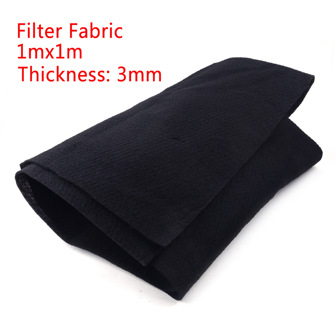 LETAOSK 1m X 1m Black Air Conditioner Activated Carbon Absorb Waste Gas Purifier Pre Filter Fabric Sheet Pad