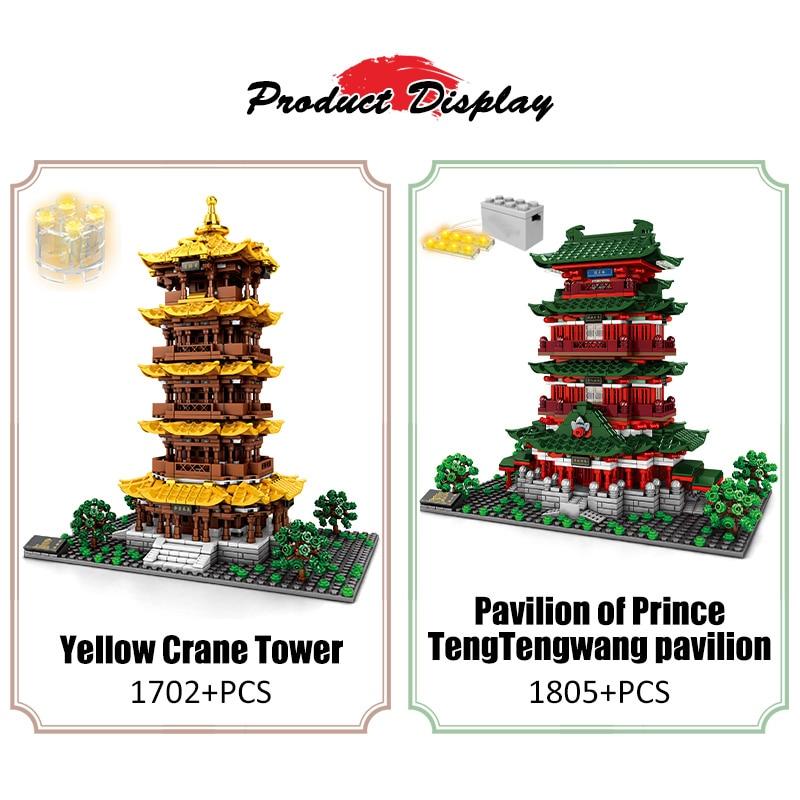 SEMBO CLED Tengwang Pavilion House Building Blocks