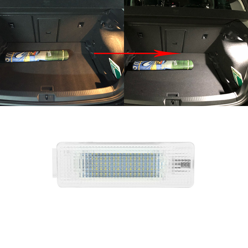1x Белый светодиод SMD светильник багажника VW GOLF 5/6/7 MK5 MK6 MK7 V/VI/VII Jetta Passat Touran Transporter