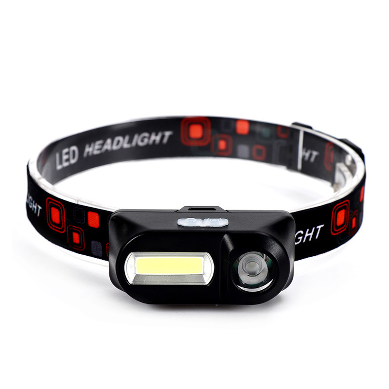 MINI T6+COB LED Headlamp 18650 Head Lamp Flashlight USB Rechargeable Torches Camping Headlight Hiking Night Fishing Light