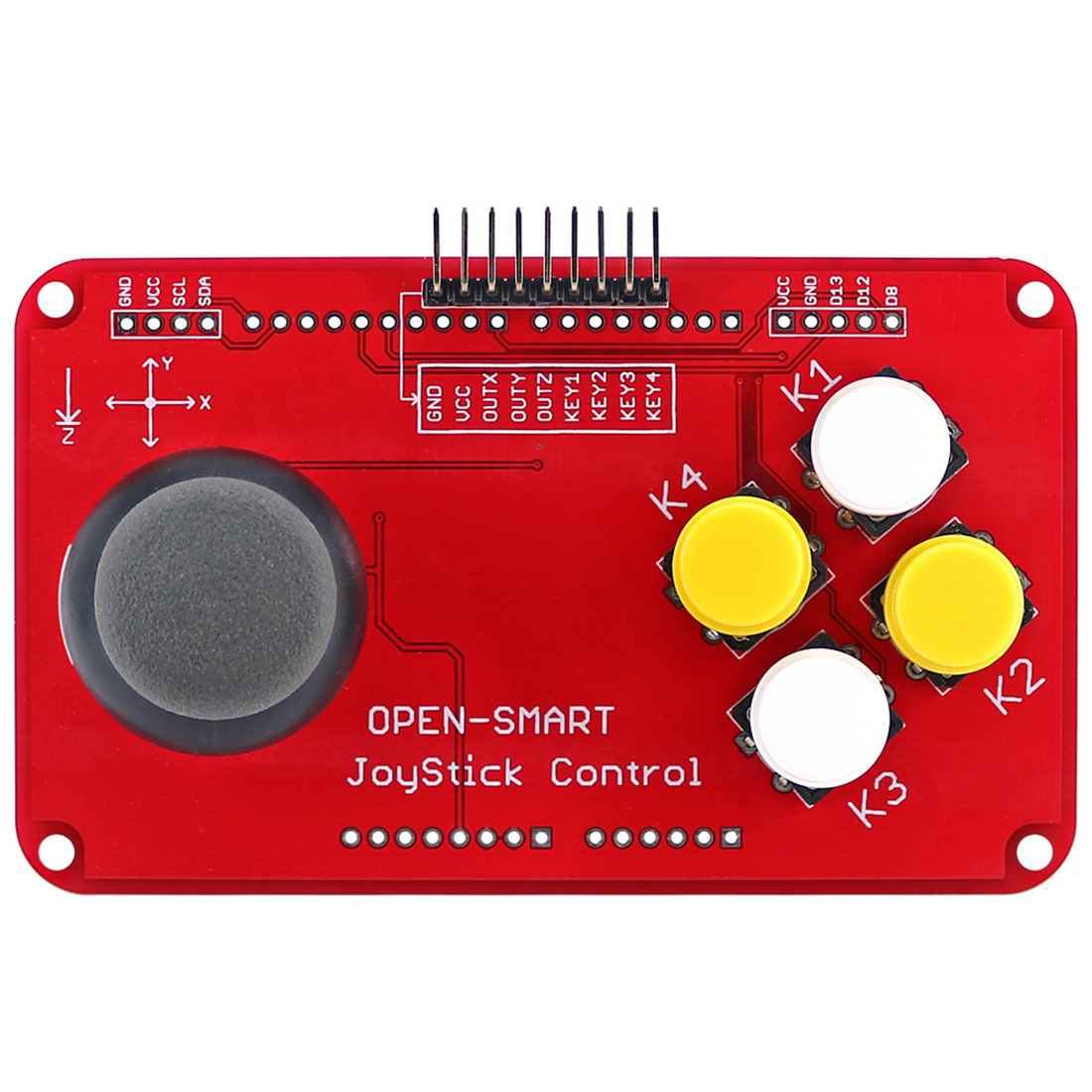 New PS2 Joystick Keypad Shield Joystick Game Controller Breakout Module Shield For Arduino / Nano / Pro Mini