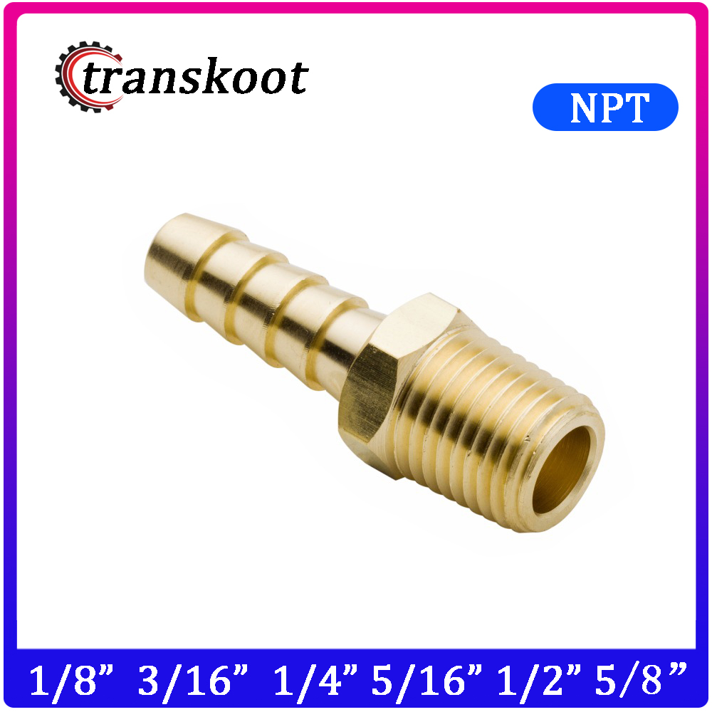 Brass Hose Barb 3 Way Tee Connector Adaptor for Fuel Air Water Gas Oil Pipe 10mm 4pcs