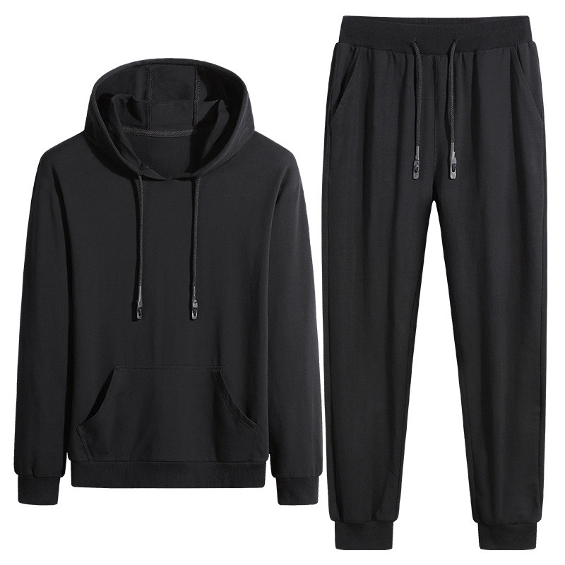 New Men'S Sportswear Sets Casual Spring Clothing Young Male and Student Fashion Tracksuit Hooded Coat + Pants Plus Size 7XL 8XL
