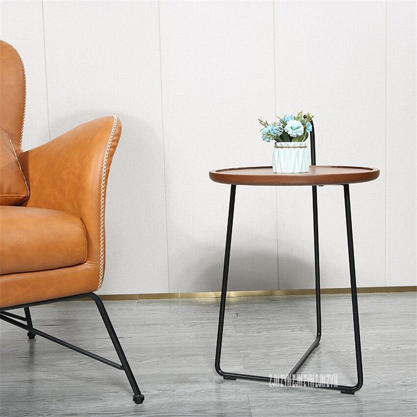 SF6413 Modern Simple Iron Tea Table Sofa Side Table Living Room Creative Small Coffee Table Light Luxury Storage Round Table