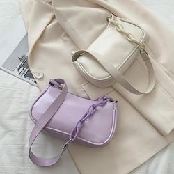 Women Soft PU Shoulder Handbag Classic Texture Creative Design Chic Purse Ladies Solid Totes Elegant Shopping Bags Dropshipping