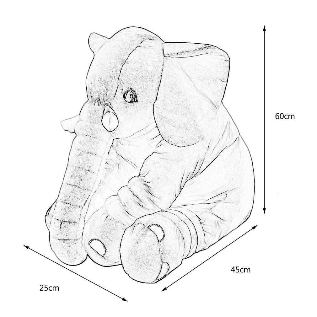 10-15 дней доставка в Россию 60 см мягкая подушка в виде слона, Детская плюшевая кукла, игрушка, набитая для детей, спальные игрушки, рождественские подарки