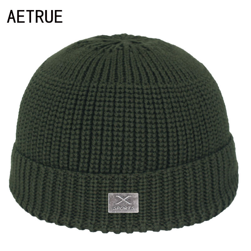 Fashion Skullcap Skullies Beaines Winter Beanie Hat Men Winter Hats For Men Caps Ski Bonnet Short Skull Women Knitted Hat Cap