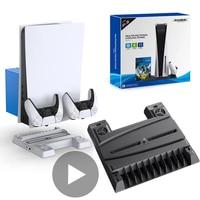DC 5V Kühler Für Sony PS5 Playstation Spielen Station PS 5 Spiel Konsole Lüfter USB Kit Fernbedienung controller Kälte