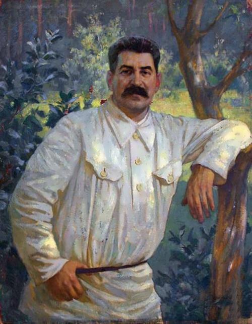 Топ ручная роспись # домашний офис картина маслом Иосиф Сталин Портрет маслом на холсте Советская Россия лидер # Бесплатная доставка