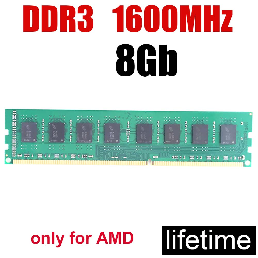8Gb <font><b>ddr3</b></font> 1600 memory RAM 1600MHz 8G <font><b>ddr3</b></font> memoria PC3 12800 / 16Gb 4Gb 2Gb <font><b>16</b></font> gb / Good compatible Dual channel Speed up image