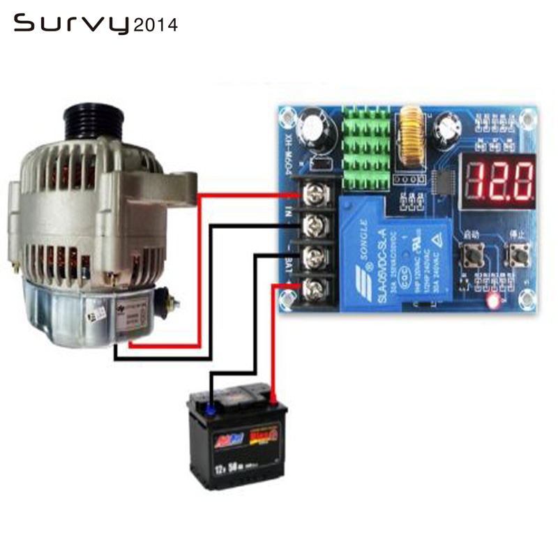 1PCS 6-60v Lead-acid Battery Charging Controller Protection Board Switch 12v 24v