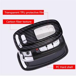 Image 5 - Carbon Fiber + Pc Bescherming Auto Sleutel Cover Case Voor Audi A6L A4L Q5 A3 A4 B6 B7 B8 Smart carbon Fiber Grain Shell Accessoires