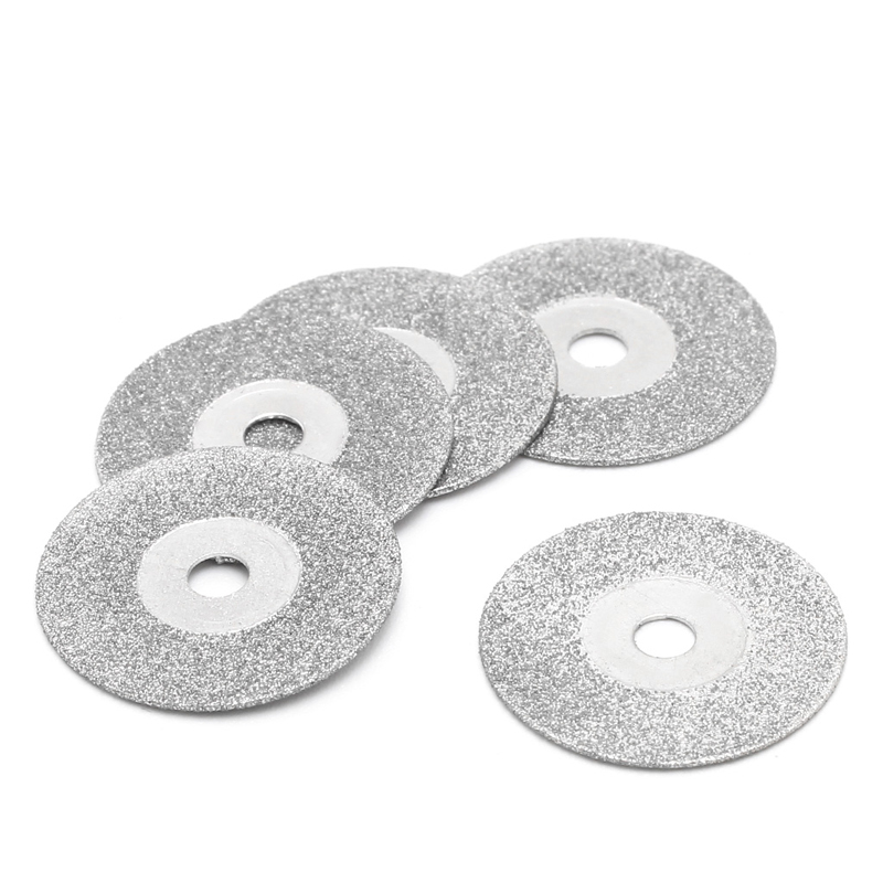 5pcs 50mm Diamonte Cutting Discs Drill Bit Shank For Rotary Tool Blade 40JE
