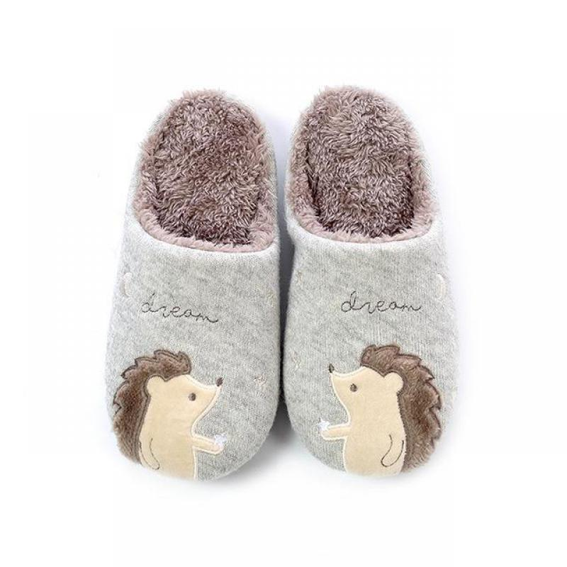 2019 Nova Hedgehog Chinelos Em Casa Mulheres Sapatos Casais Bonito Chinelo Chinelos Sapatos Mulher Pantufa Fluffyr Pulsh