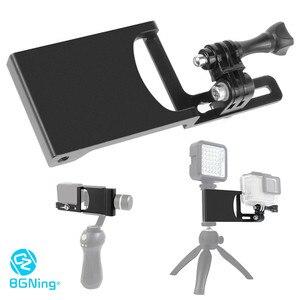 Image 1 - Bgning Aluminium Handheld Gimbal Adapter Schakelaar Mount Plaat Voor Dji Moza Stabilisatoren Voor Gopro Max 8 7 6 5 actie Camera