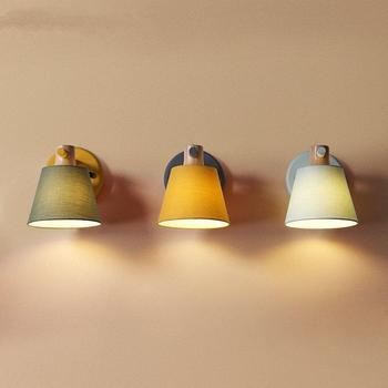 Современный настенный светильник, теплый прикроватный светильник для спальни, для кабинета, настенный светильник s для дома, для ванной ком...