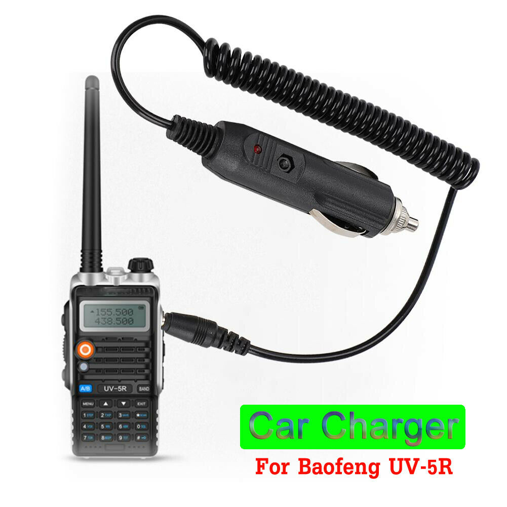 Walkie Talkie Battery Car Charger Adapter Cable For Baofeng UV-5R GT-3 GT-3TP Long Battery Charger