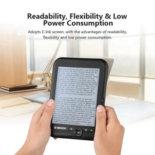 BK-6006 Portable E-Book Reader 8GB E-Ink 6 Inch Multifunction EReader 800X600 High Resolution Display Screen 300DPI original 7 1 inch lcd screen e ink e book lb071ws1 rd02 for prs 950 prs 900 e book display screen panel