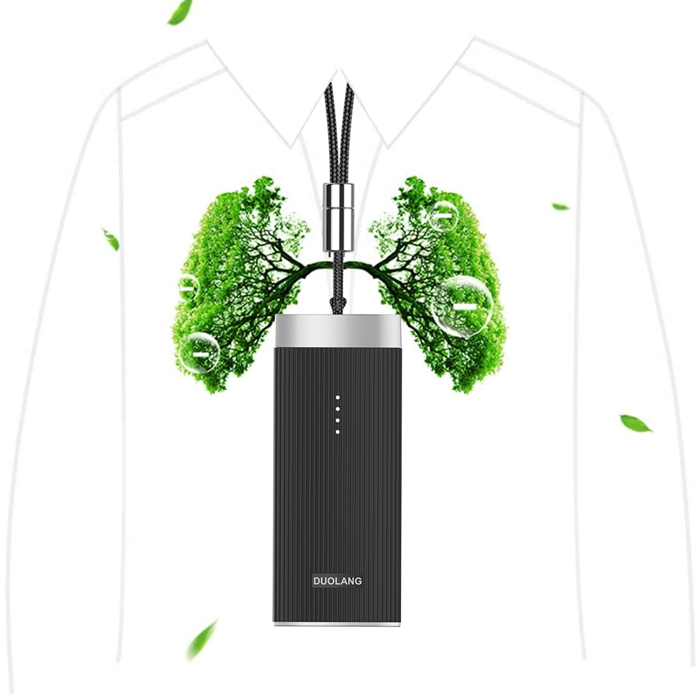 Mini Portable Air Purifier Wearable Air Purifier Necklace USB Air Cleaner Personal Negative Ion Generator Personal Air Freshener