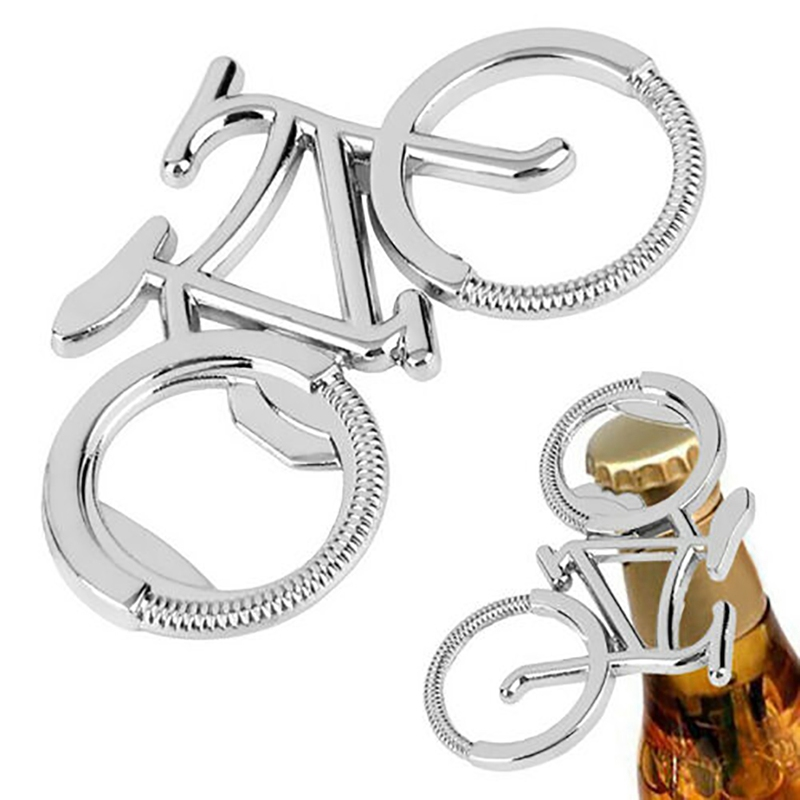 Bottle Opener Bicycle Shape Electroplated Portable Stainless Steel Beer Cap Remover Outdoor Keychain Accessories 2020