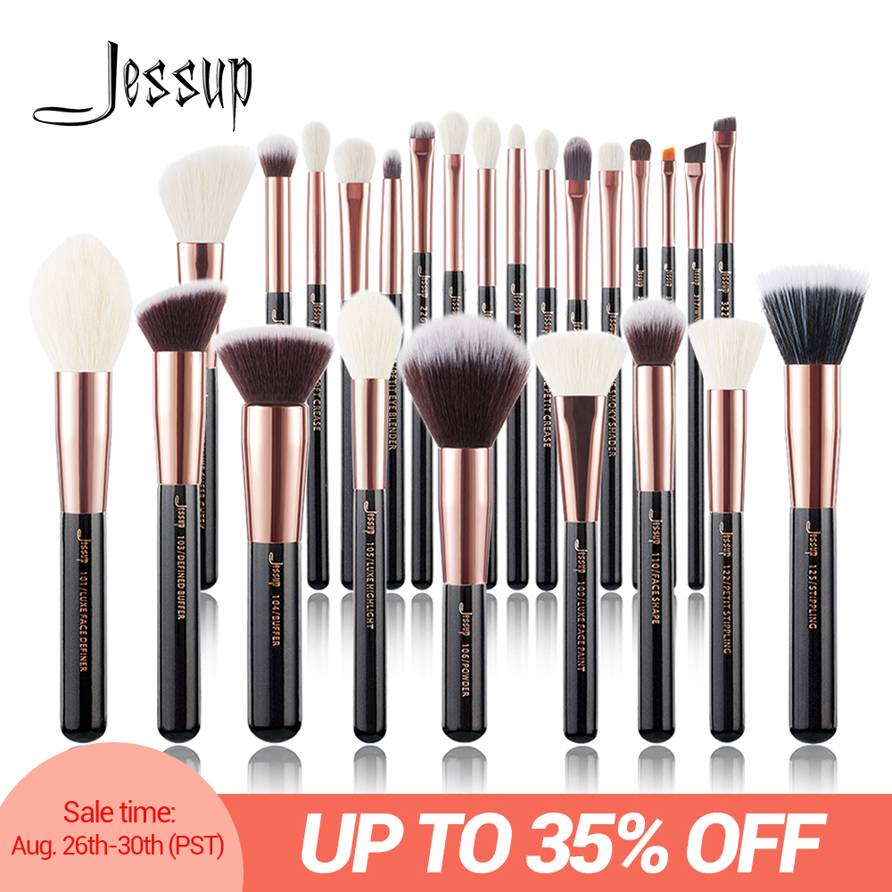 Jessup Makeup-Brushes-Set Eyeshadow Beauty-Foundation-Powder Rose-Gold/black 6pcs-25pcs