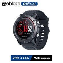 Zeblaze VIBE 3 EKG Anında EKG talep üzerine Renkli Ekran Kalp Hızı IP67 Su Geçirmez Çok spor Modları Spor Izci akıllı saat
