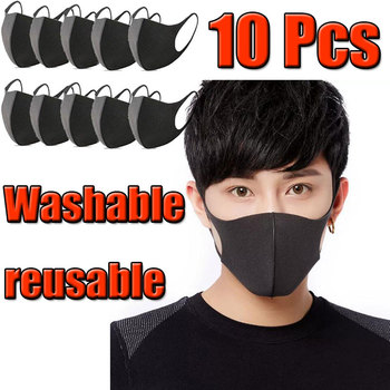 10 Pcs New Black Anti-Infection Virus Face Mouth Mask Mouthmask Unisex Anti-dust Mouth Facemask Breath Straps Washable Reusable