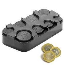 Plastic Pocket Money-Container-Organizer Coin-Box-Holder Storage Rolls Euro Case Telescopic-Dash