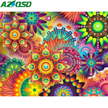 Painting By Numbers Bright Colours Abstract Flowers Mandala
