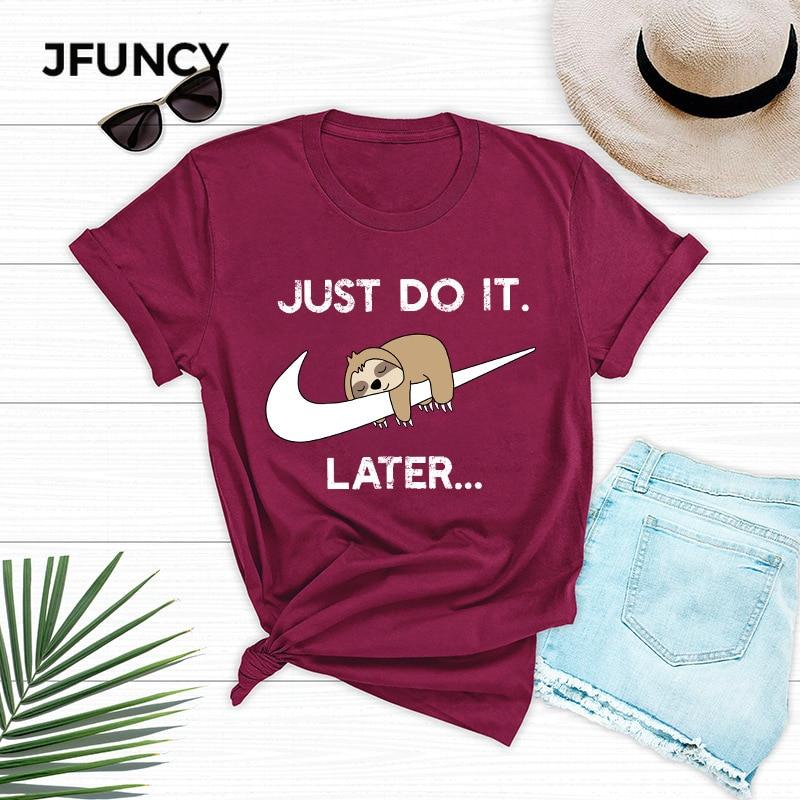 JFUNCY Funny Cartoon Harajuku Graphic Unisex Tee Tops Clothing Plus Size Summer Loose Casual Women Tshirts 100% Cotton T-shirts