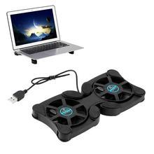 Новое поступление al 2 шт 70 мм Универсальный складной USB кулер для ноутбука тихий Противоскользящий рассеивание тепла охлаждение кронштейн вентилятора для большинства ноутбуков