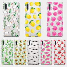 Sommer Tropischen pflanzen Obst avocado telefon fall für Samsung A50 A70 S9 S8 A8 A6 Plus S7 S6 rand S10 E A5 2017 TPU Silikon Fall(China)