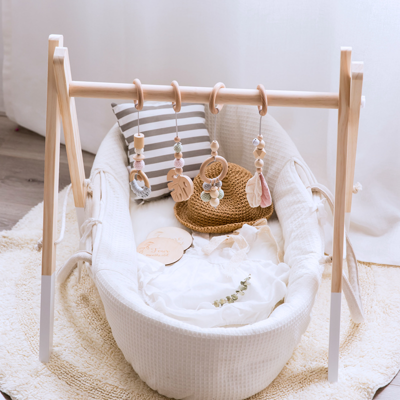 Baby Toys Wooden Play Gym Toys Nordic Baby Room Decor Wood Nursery Sensory Toy Gift Infant Room Clothes Rack Accessories Rattles