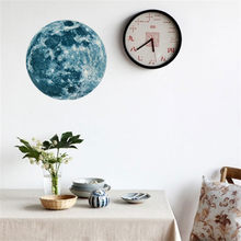 20cm 3D Large Moon Fluorescent Wall Sticker Removable Glow In The Dark Sticker decorations for home wallpaper Naklejki Na Sciane(China)