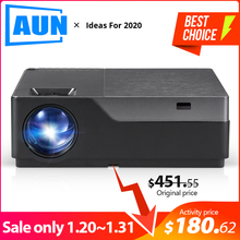 AUN Full HD Projector M18UP, 1920x1080P, Android 6.0 WIFI Video Beamer, LED