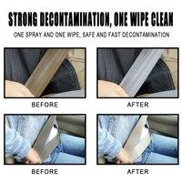 3pc Car Interior Cleaner Liquid Decontamination Accessory Car Interior Decontamination Supplies Car Seat Belt Cleaner 2