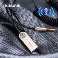Baseus aux adaptador bluetooth carro 3.5mm jack dongle cabo handfree carro kit transmissor de áudio auto bluetooth 5.0 receptor